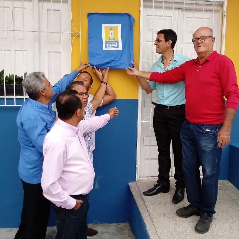 Prefeitura entrega reforma e cobertura da Central de Distribuição da Merenda Escolar Elita Oliveira Reis e Santos.